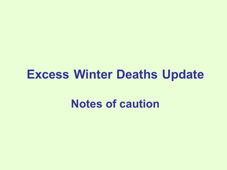 Excess Winter Deaths in NI Registrar General Annual Report 2010
