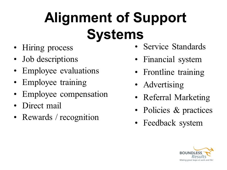 Systems that support EEE: Consistent brand messaging Customer service standards Feedback system Recognition system Training Management coaching Teambuilding Employee Advisory Group