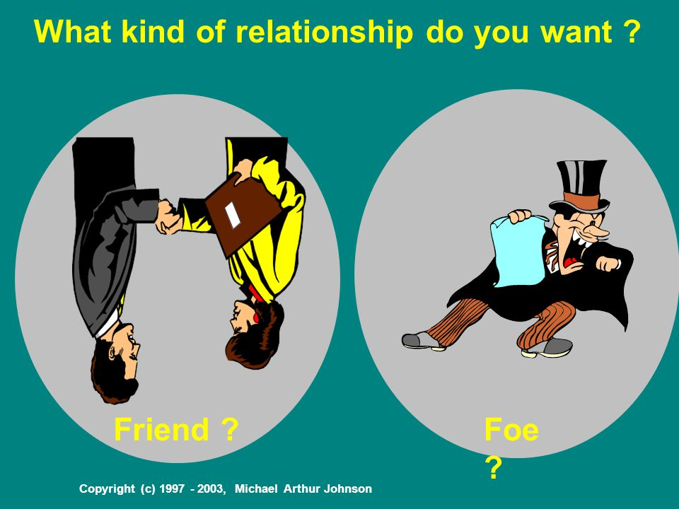 Copyright (c) 1997 - 2003, Michael Arthur Johnson What kind of relationship do you want .