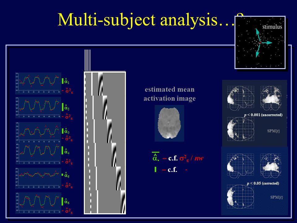 Multi-subject analysis….