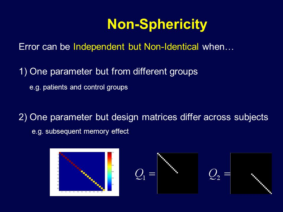 Error can be Independent but Non-Identical when… 1) One parameter but from different groups e.g.