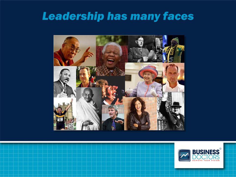 Leadership has many faces