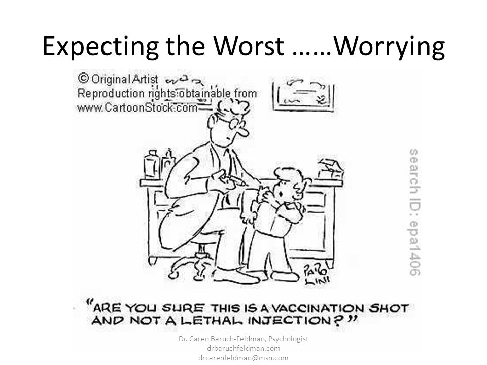 Expecting the Worst ……Worrying Dr. Caren Baruch-Feldman, Psychologist drbaruchfeldman.com drcarenfeldman@msn.com