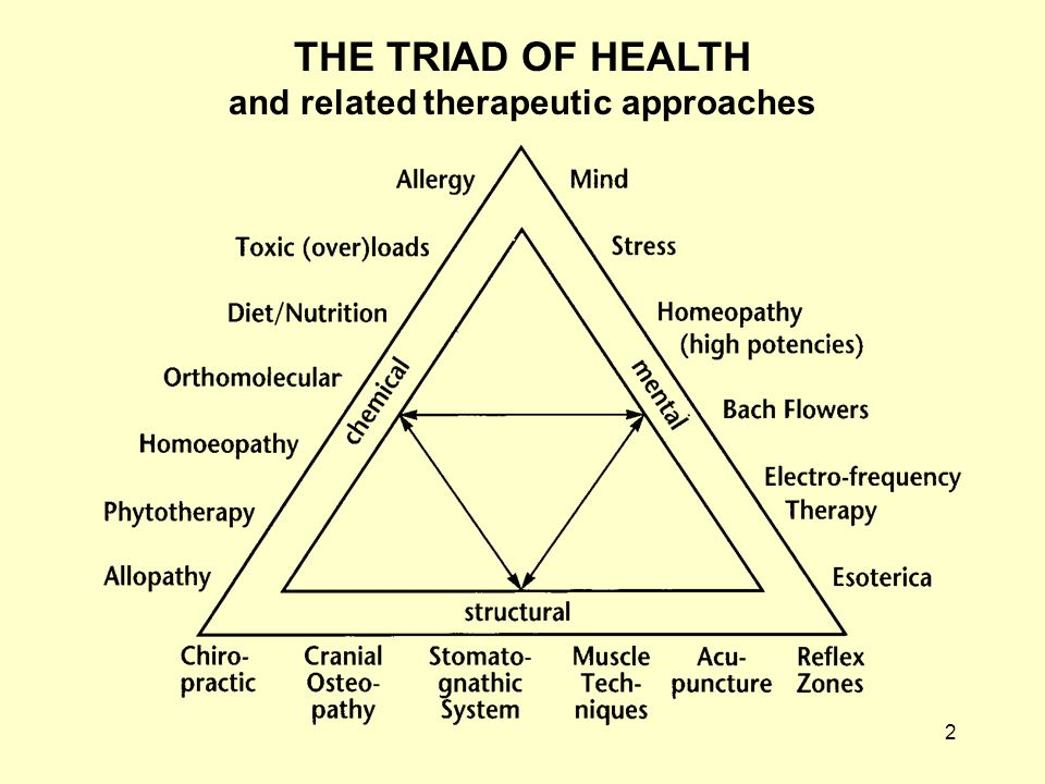 2 THE TRIAD OF HEALTH and related therapeutic approaches