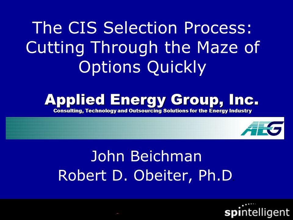 John Beichman Robert D.Obeiter, Ph.D.