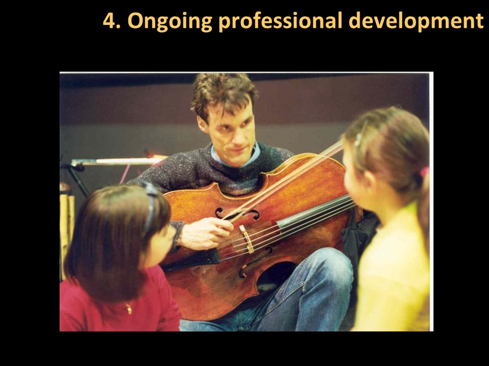 4. Ongoing professional development