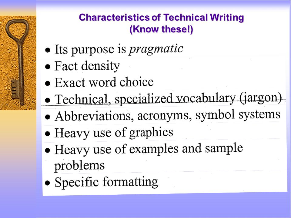 Characteristics of Technical Writing (Know these!)