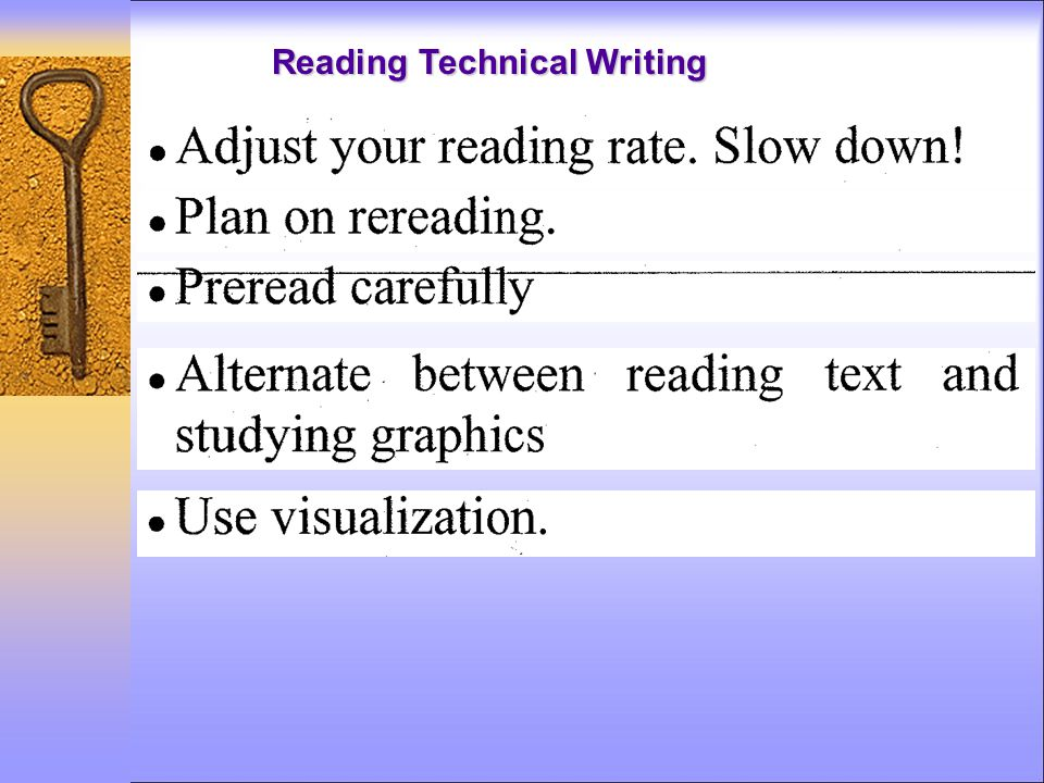 Reading Technical Writing