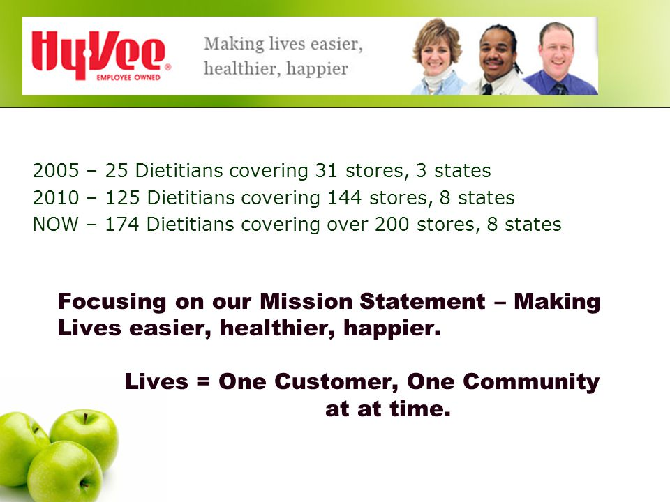 Focusing on our Mission Statement – Making Lives easier, healthier, happier.