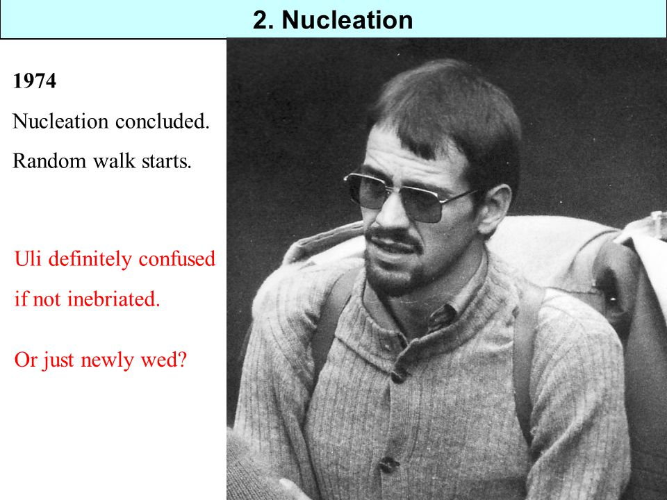 2. Nucleation 1974 Nucleation concluded. Random walk starts.