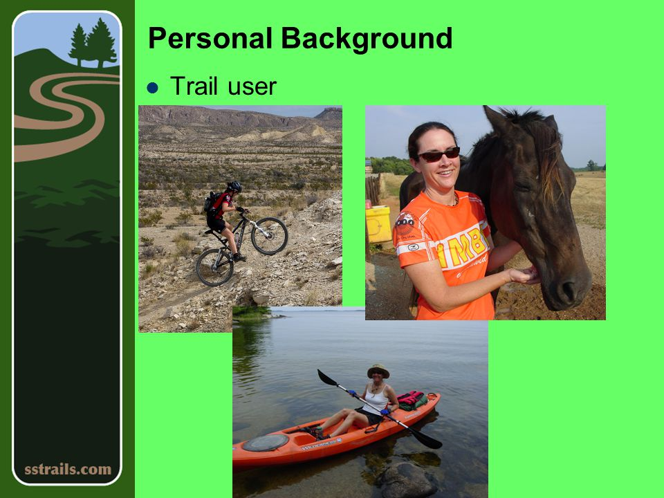 Personal Background Trail builder