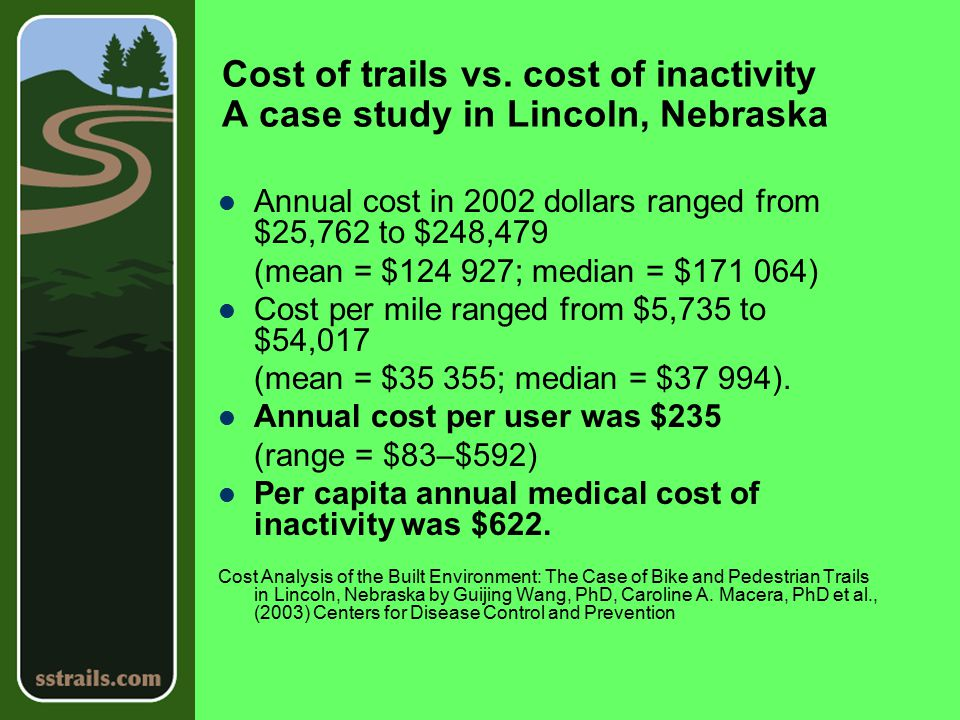 Cost of trails vs.