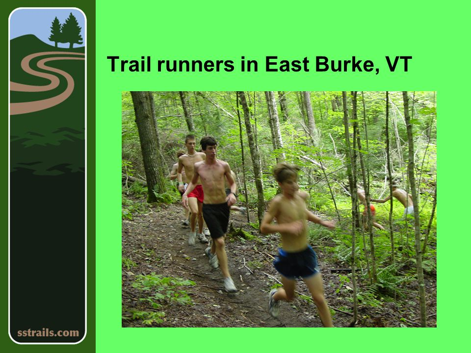 Trail runners in East Burke, VT