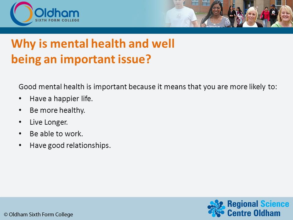 Why is mental health and well being an important issue.
