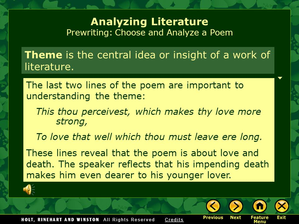 Analyzing Literature Prewriting: Choose and Analyze a Poem Stylistic devicesStylistic devices are the techniques a writer uses to control language to create effects.
