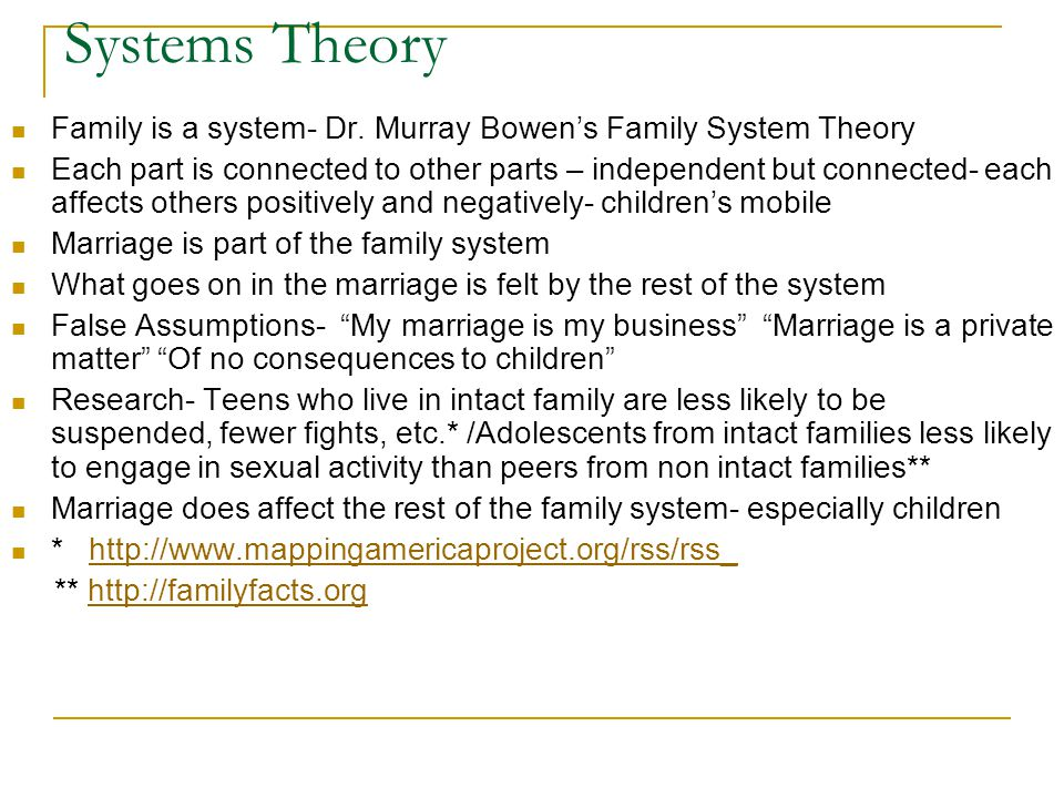 Systems Theory Family is a system- Dr.