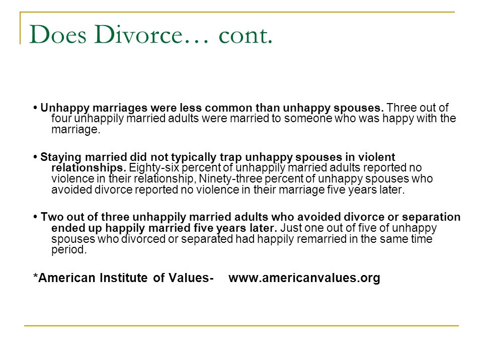 How can this data/ information help people avoid divorce or work harder to save their marriage?