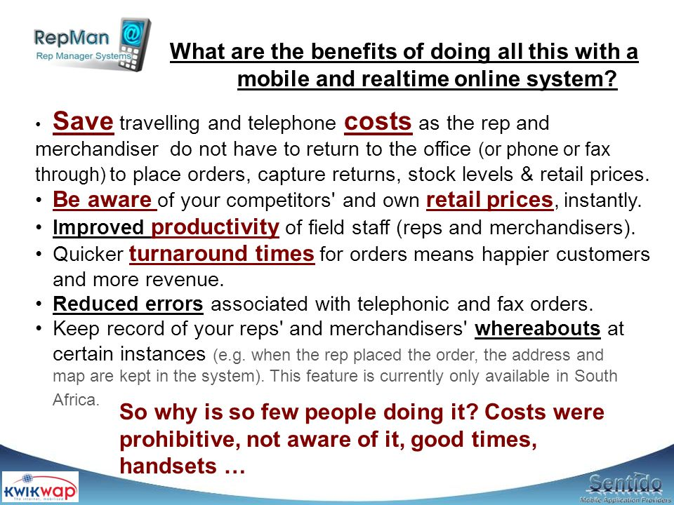 What are Problem: Information from remote branches are untimely, it is a hassle to compile and it is difficult to spot the problems immediately Solution: Get the branches and/or reps to submit reports over the internet, either via PC or their cell phones Because it is web based, updates* are instant.