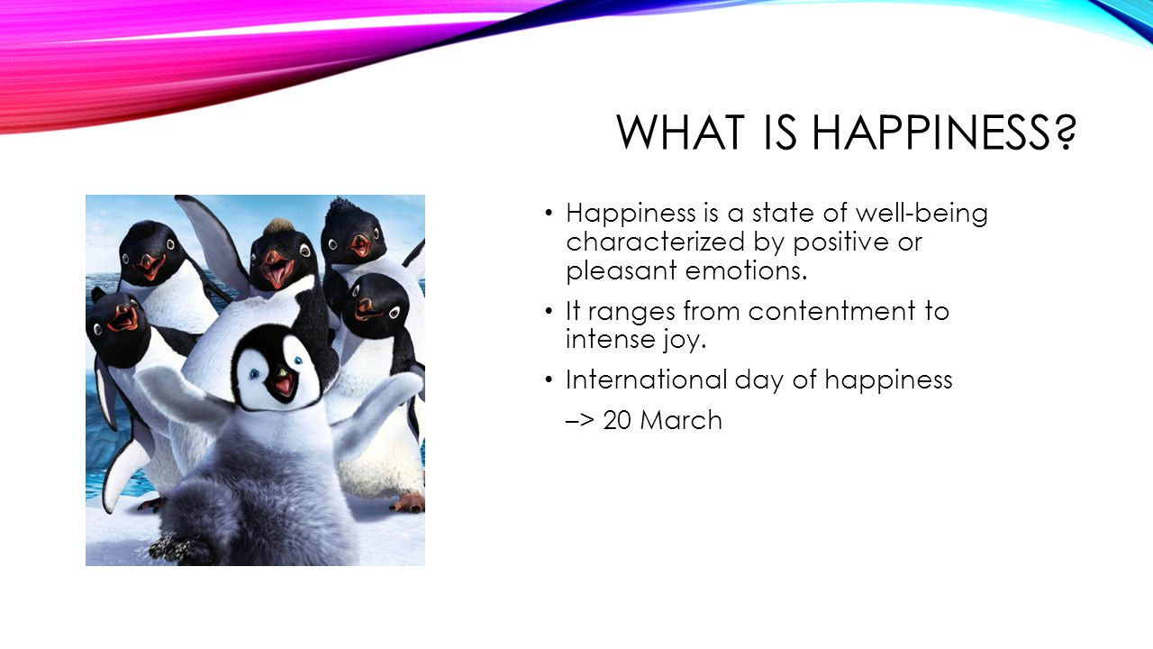 WHAT IS HAPPINESS.