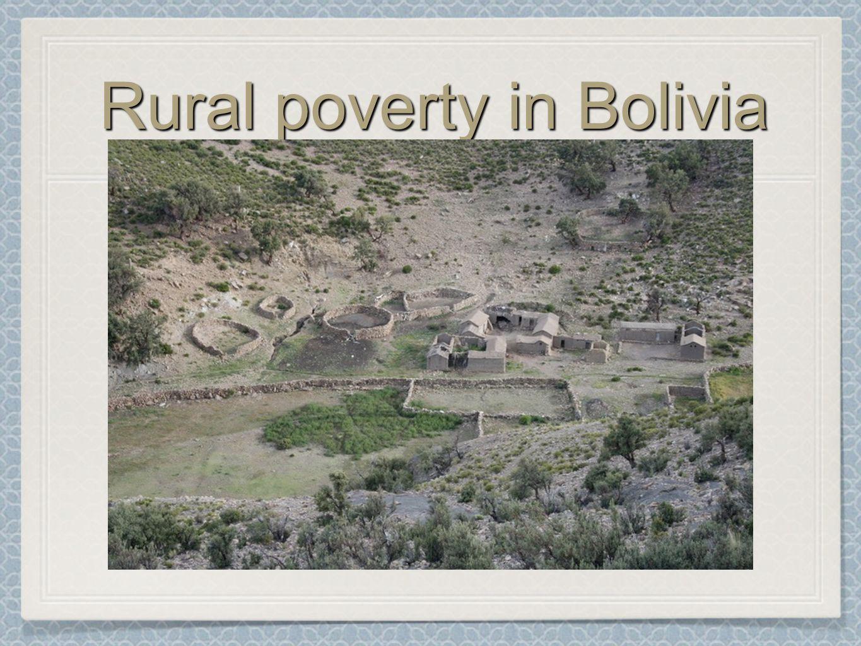 Rural poverty in Bolivia