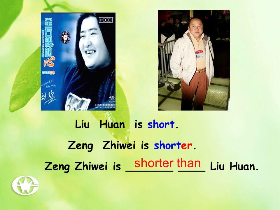 Yao Ming is _____ ____Jordan. Jordan is tall. Yao Ming is taller. taller than