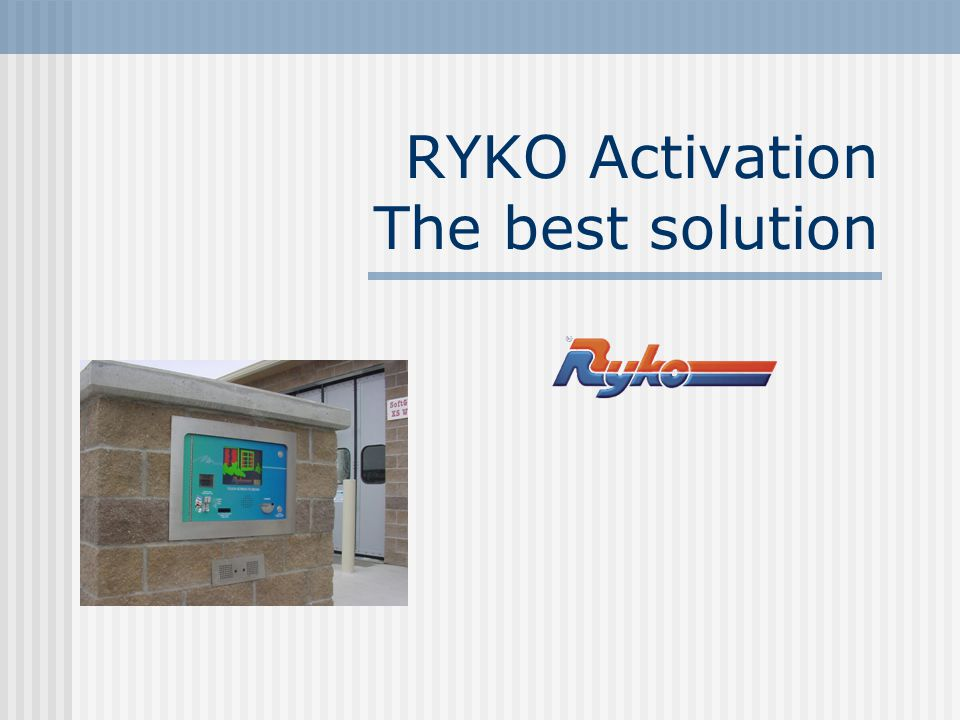 Your customer will be happier with a 100% RYKO system I don ' t want to buy a Code A Wash for my self serve car wash The AMTT CS can operate washes without a CAW today.
