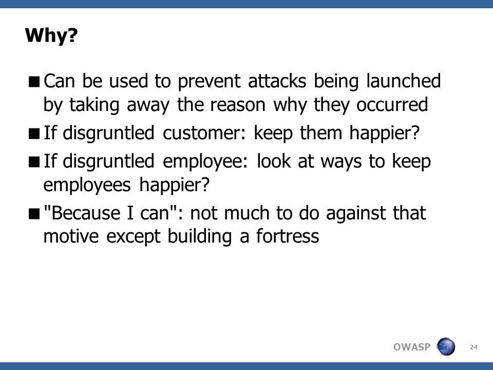 OWASP 24 Why.