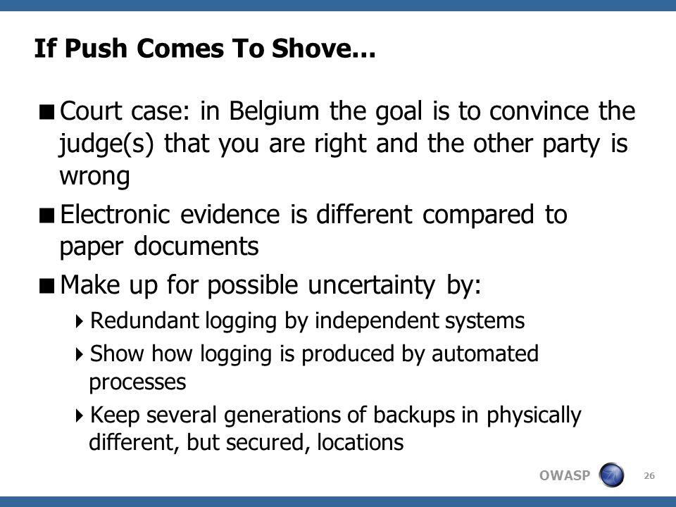OWASP 26 If Push Comes To Shove...