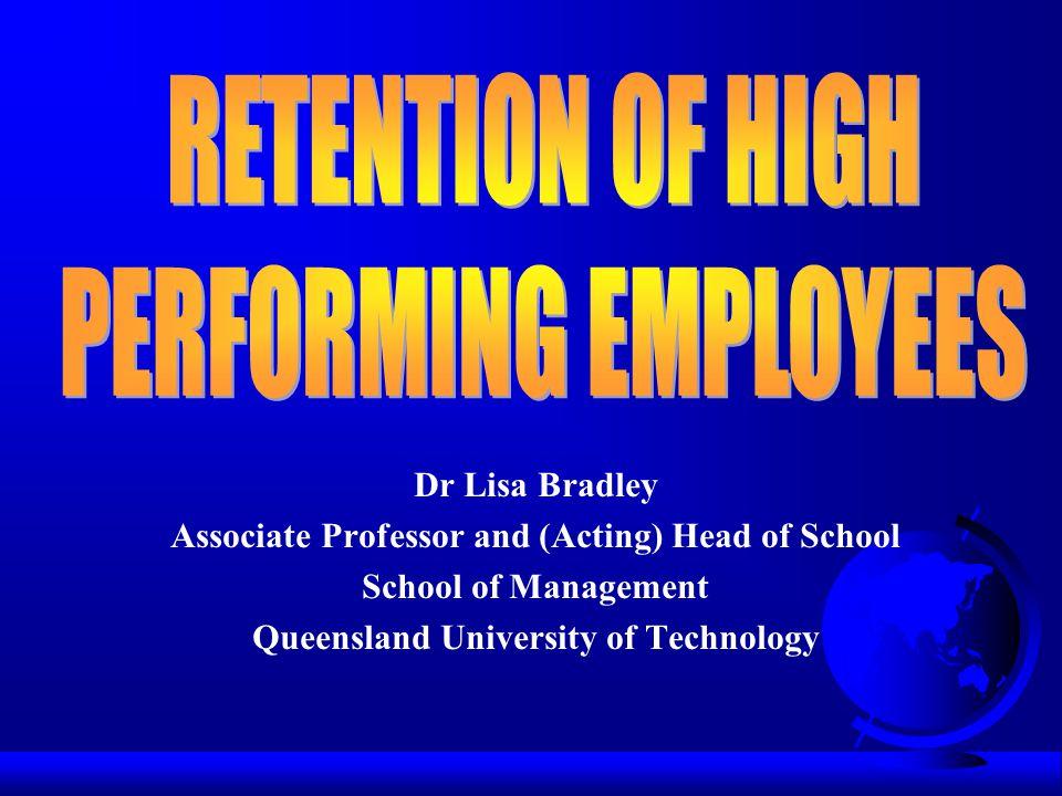 Dr Lisa Bradley Associate Professor and (Acting) Head of School School of Management Queensland University of Technology