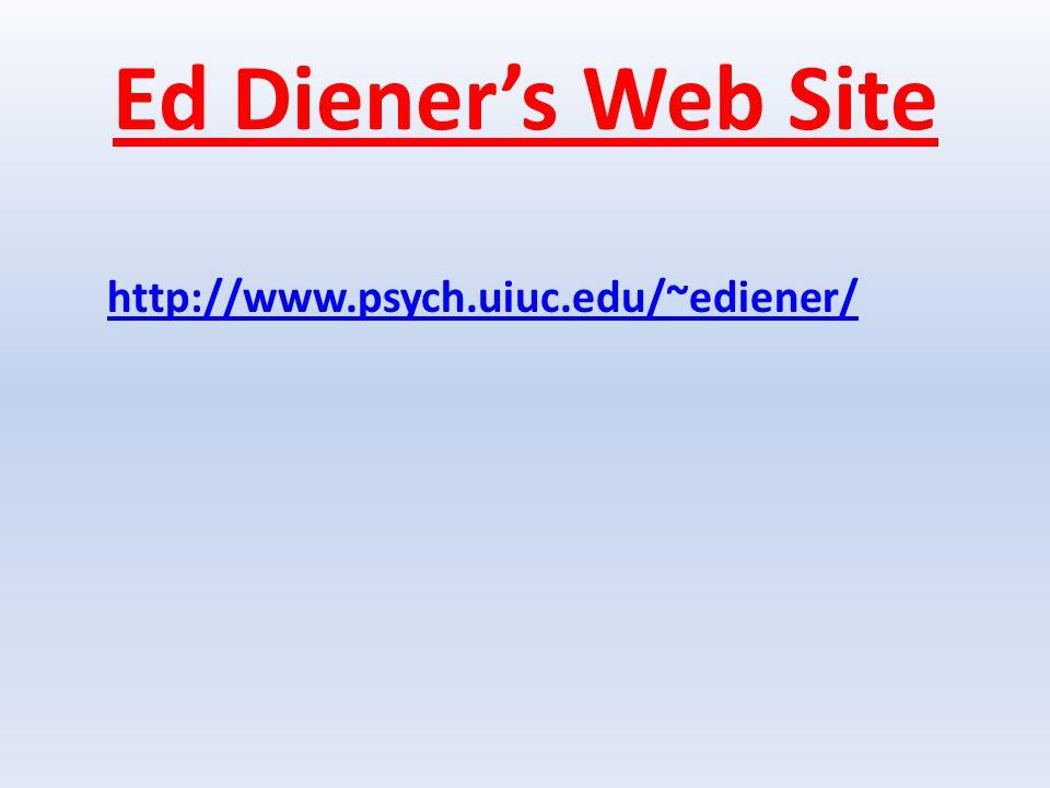 Ed Diener's Web Site http://www.psych.uiuc.edu/~ediener/