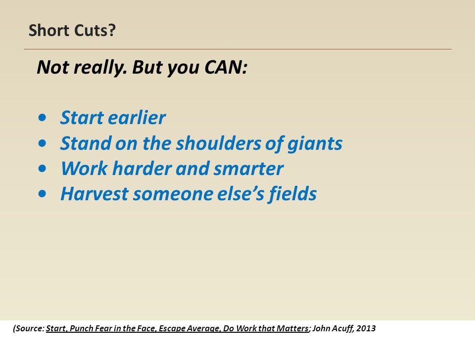 Short Cuts. Not really.