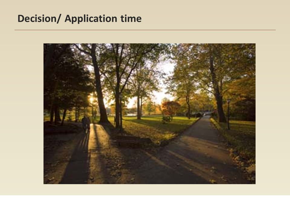 Decision/ Application time