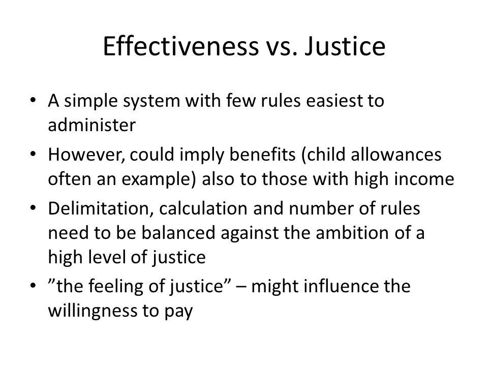 Effectiveness vs.