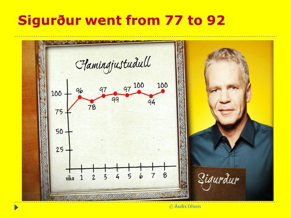Sigurður went from 77 to 92 © Ásdís Olsen