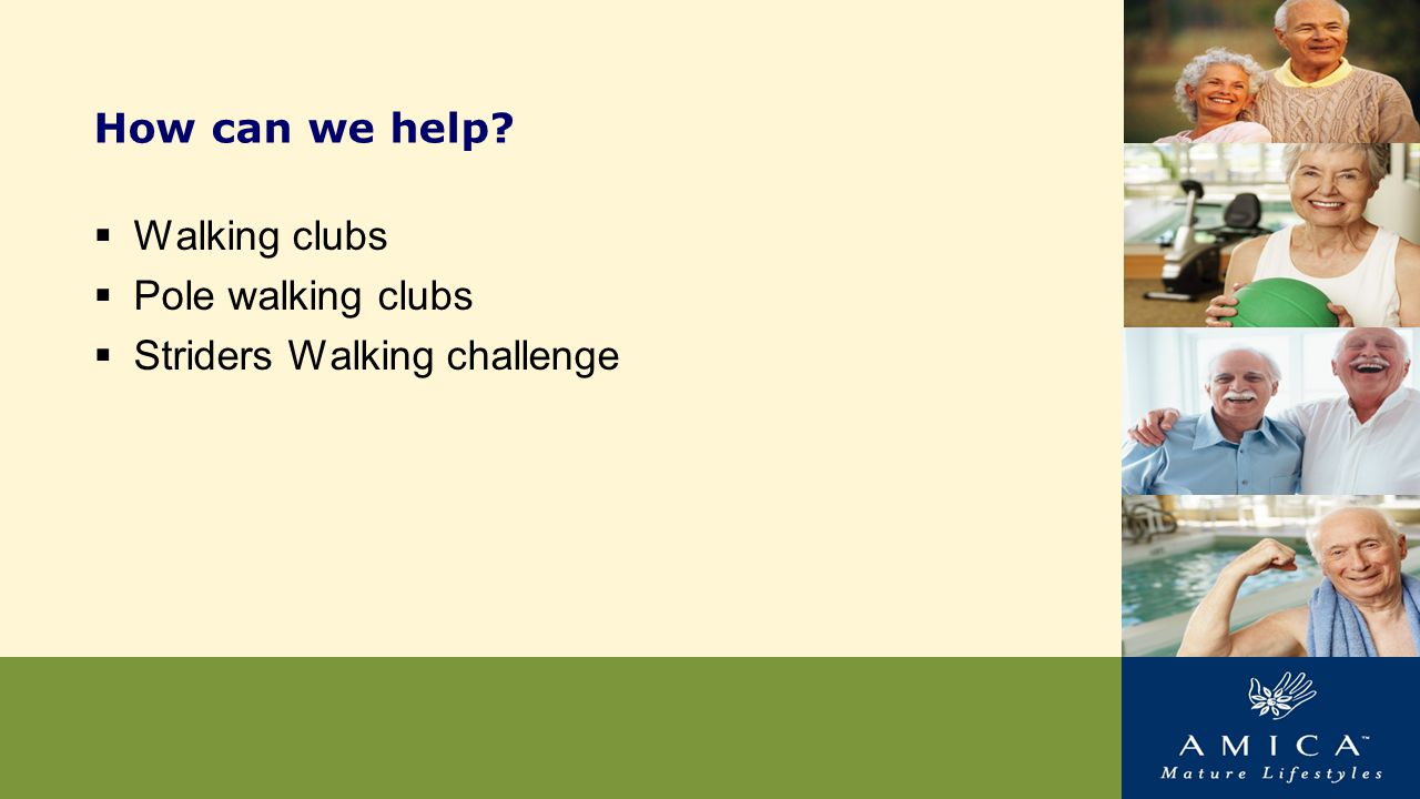How can we help  Walking clubs  Pole walking clubs  Striders Walking challenge