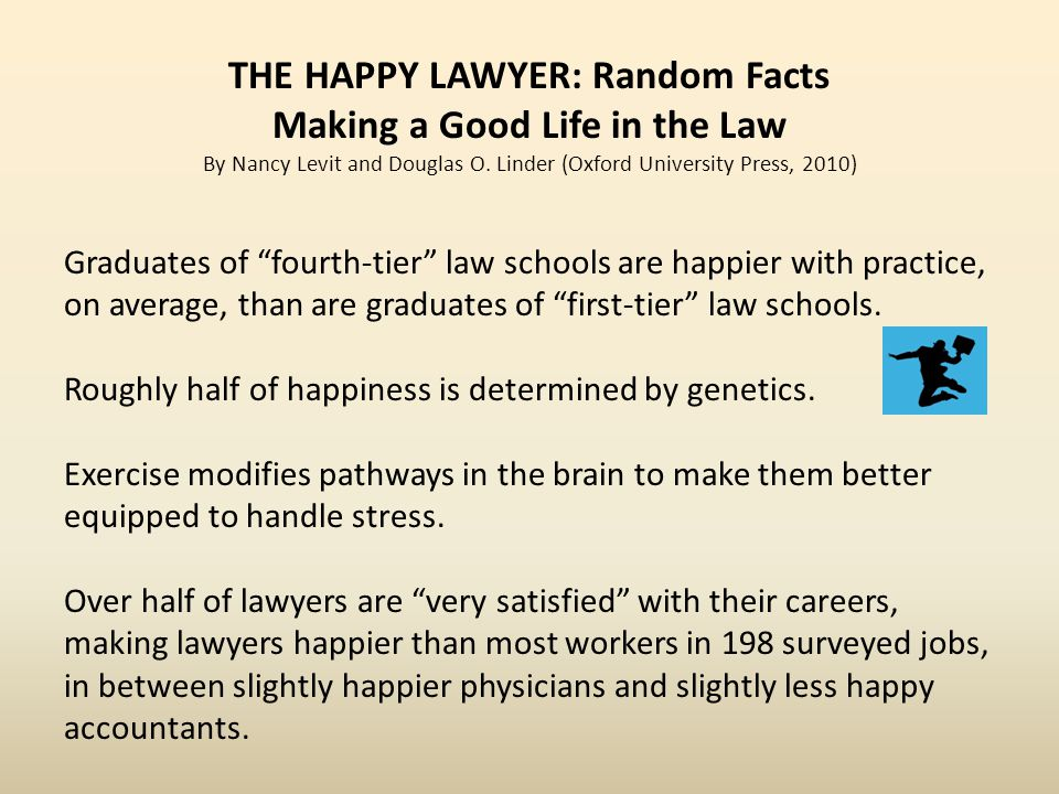 THE HAPPY LAWYER: Random Facts Making a Good Life in the Law By Nancy Levit and Douglas O.