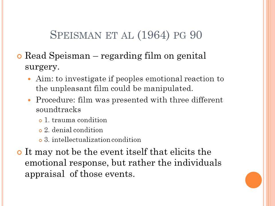 S PEISMAN ET AL (1964) PG 90 Read Speisman – regarding film on genital surgery.