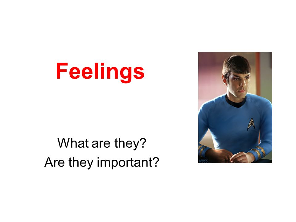 Feelings What are they? Are they important?