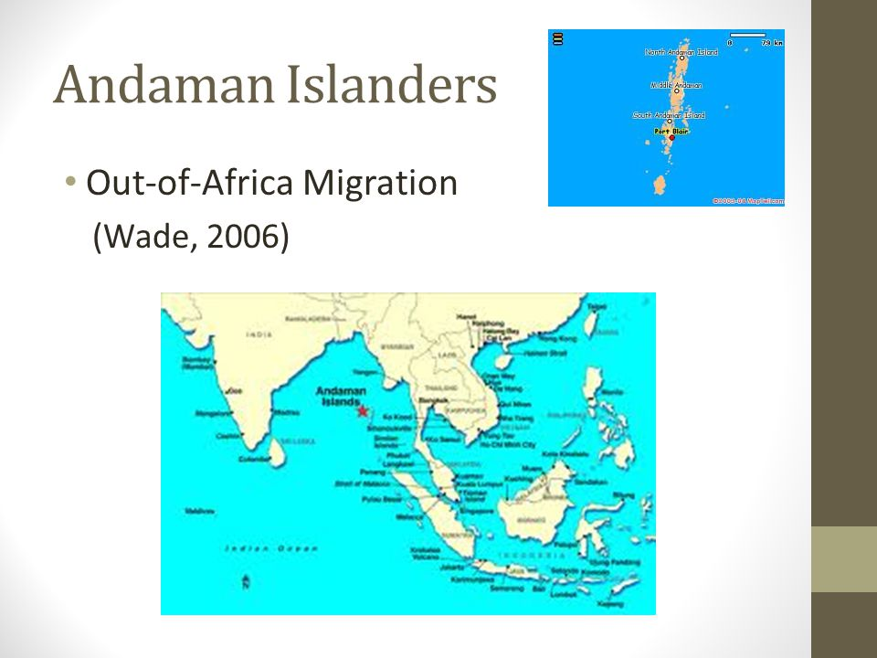 Andaman Islanders Out-of-Africa Migration (Wade, 2006)