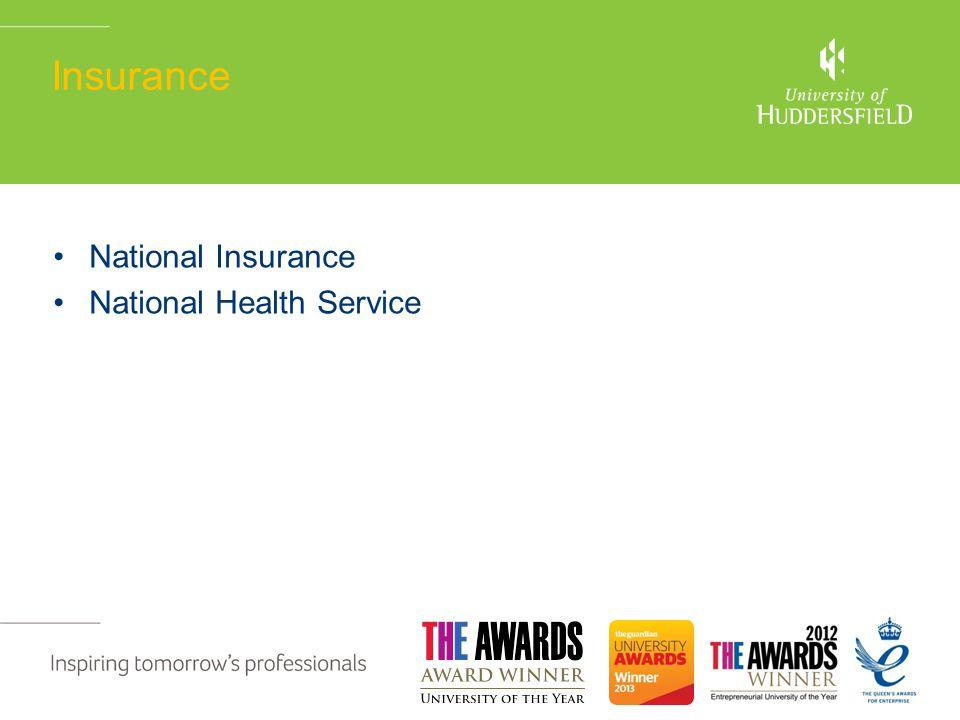 Insurance National Insurance National Health Service