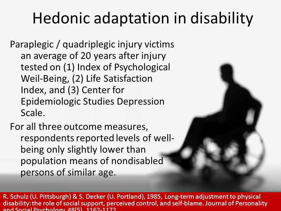 Hedonic adaptation and prospect theory Sensitivity to the perception of gains or losses, rather than the absolute level of outcomes, reflects the importance of one's current state in valuing outcomes.