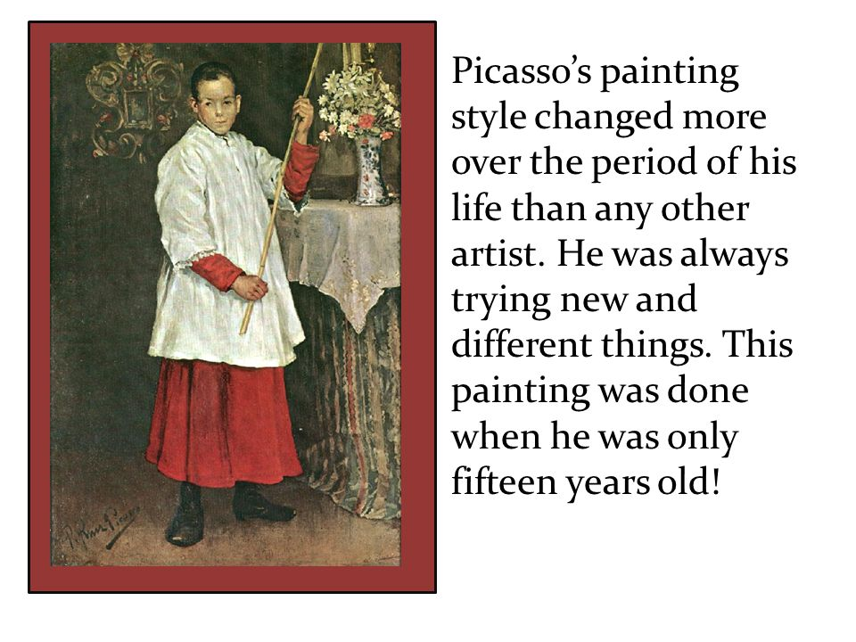 These paintings were done in his 50s what a difference.