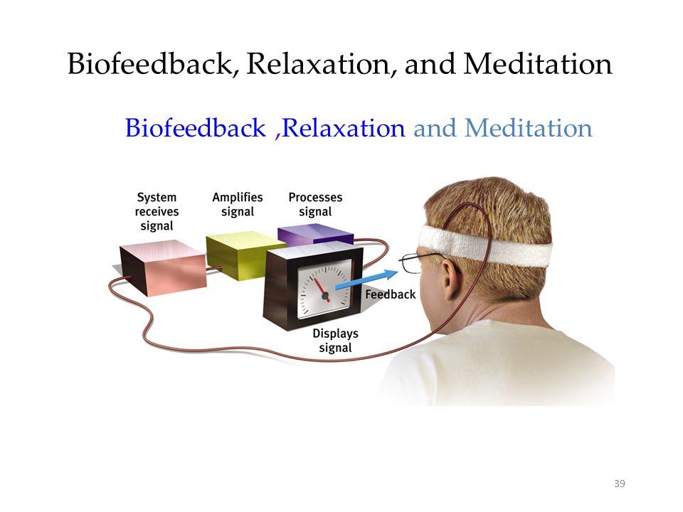 39 Biofeedback, Relaxation, and Meditation Biofeedback,Relaxation and Meditation