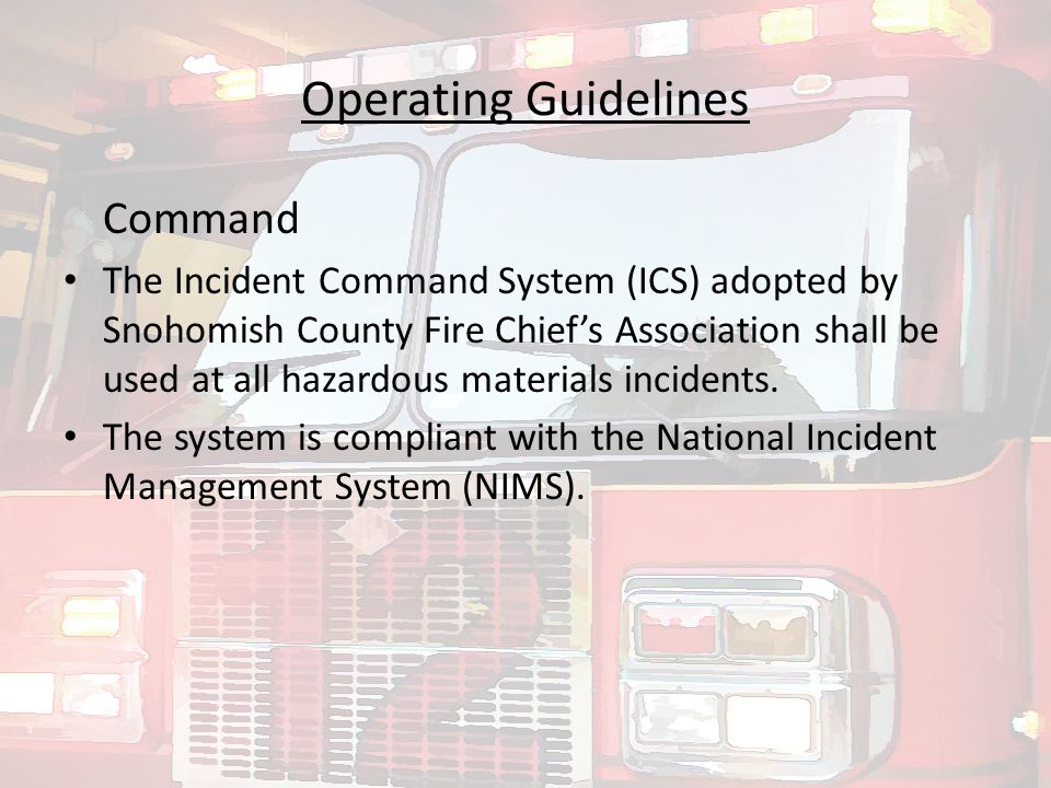 Wise use of the HazMat Response guide, the ERG and your local SOP/SOGs, will turn those hard to handle and scary HazMat calls into smaller and more easily managed scenes.
