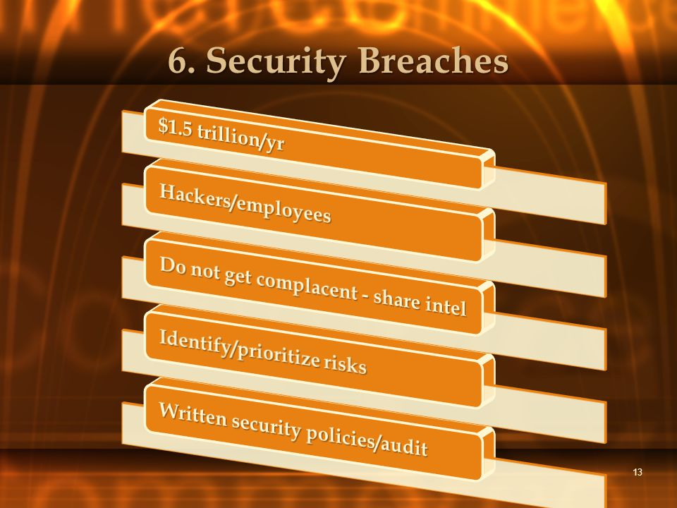 13 6. Security Breaches
