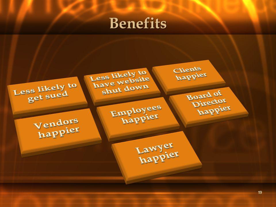 Benefits 19
