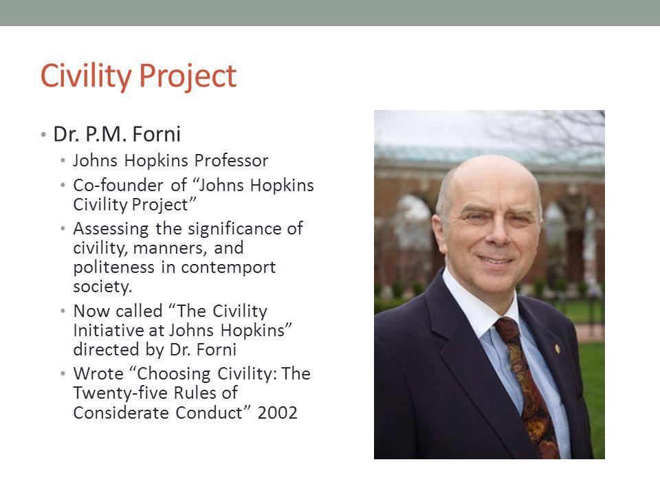 Civility Project Dr.P.M.