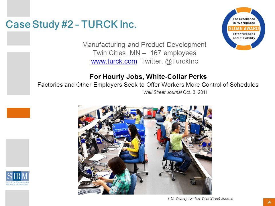 26 Case Study #2 – TURCK Inc.