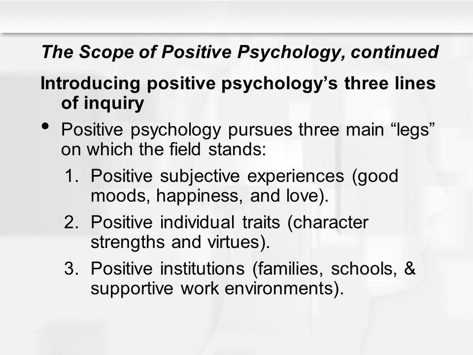 Figure 16.1.The three legs of positive psychology.