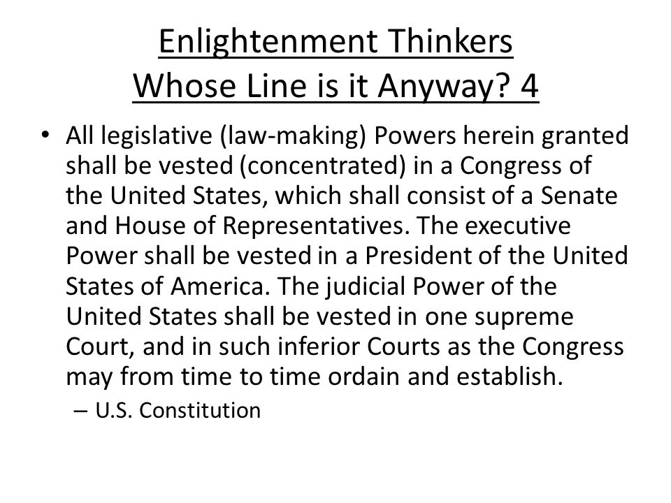 Enlightenment Thinkers Whose Line is it Anyway.